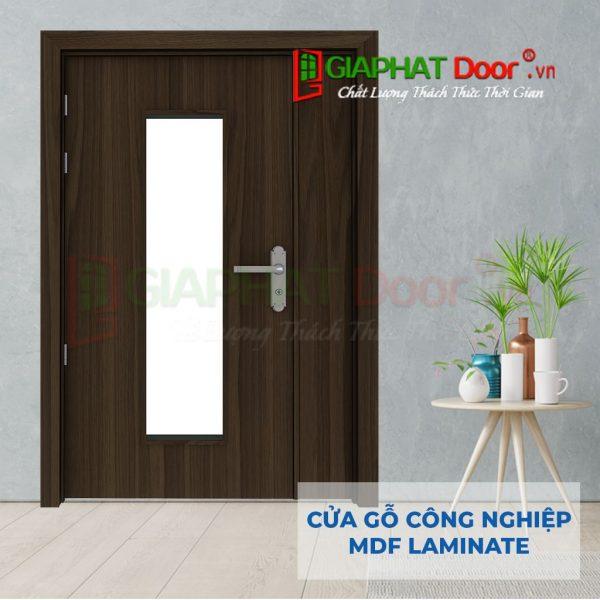 Cửa gỗ công nghiệp MDF Laminate 2P1G1