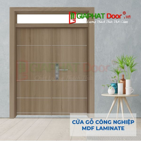 Cửa gỗ công nghiệp MDF Laminate 2P1R10s FIX