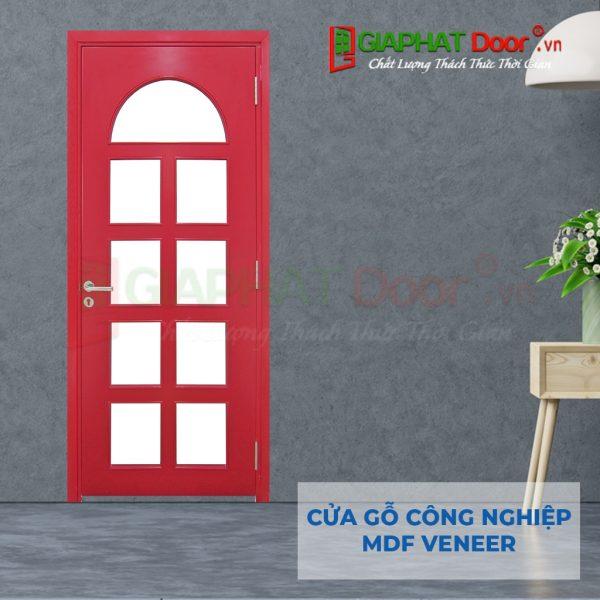 Cửa gỗ công nghiệp MDF Veneer P1G9 hong