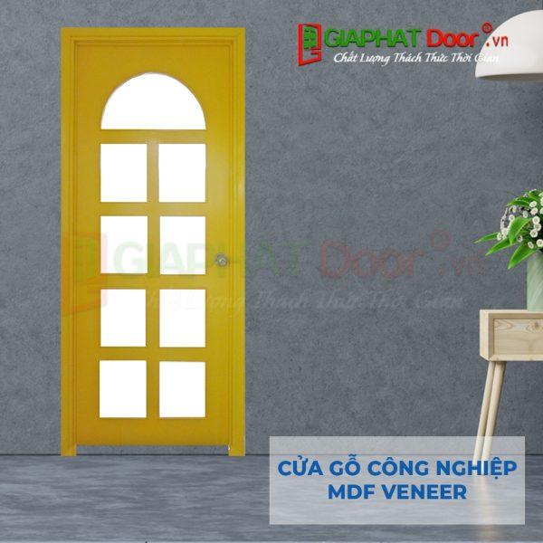 Cửa gỗ công nghiệp MDF Veneer P1G9 mau vang