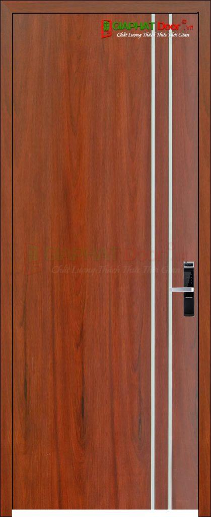 Cửa gỗ công nghiệp MDF Veneer P1R2 Cam xe