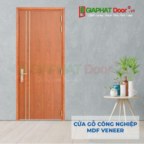 Cửa gỗ công nghiệp MDF Veneer P1R2-xoan dao