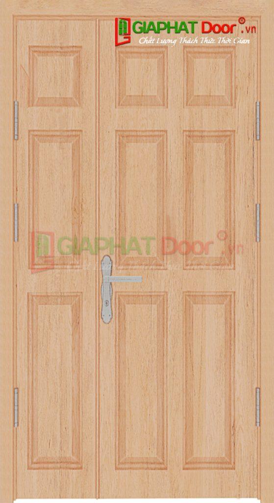 Cửa Gỗ Công Nghiệp HDF Veneer 2 canh 9A Oak (2)