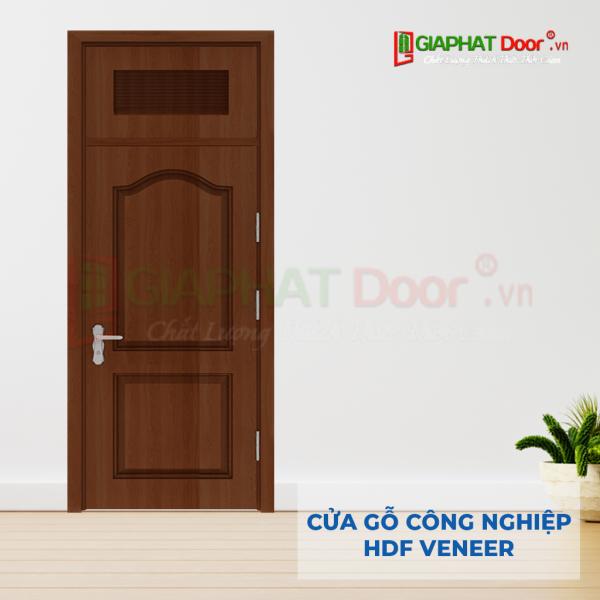Cửa Gỗ Công Nghiệp HDF Veneer SGD 2A walnut (1)