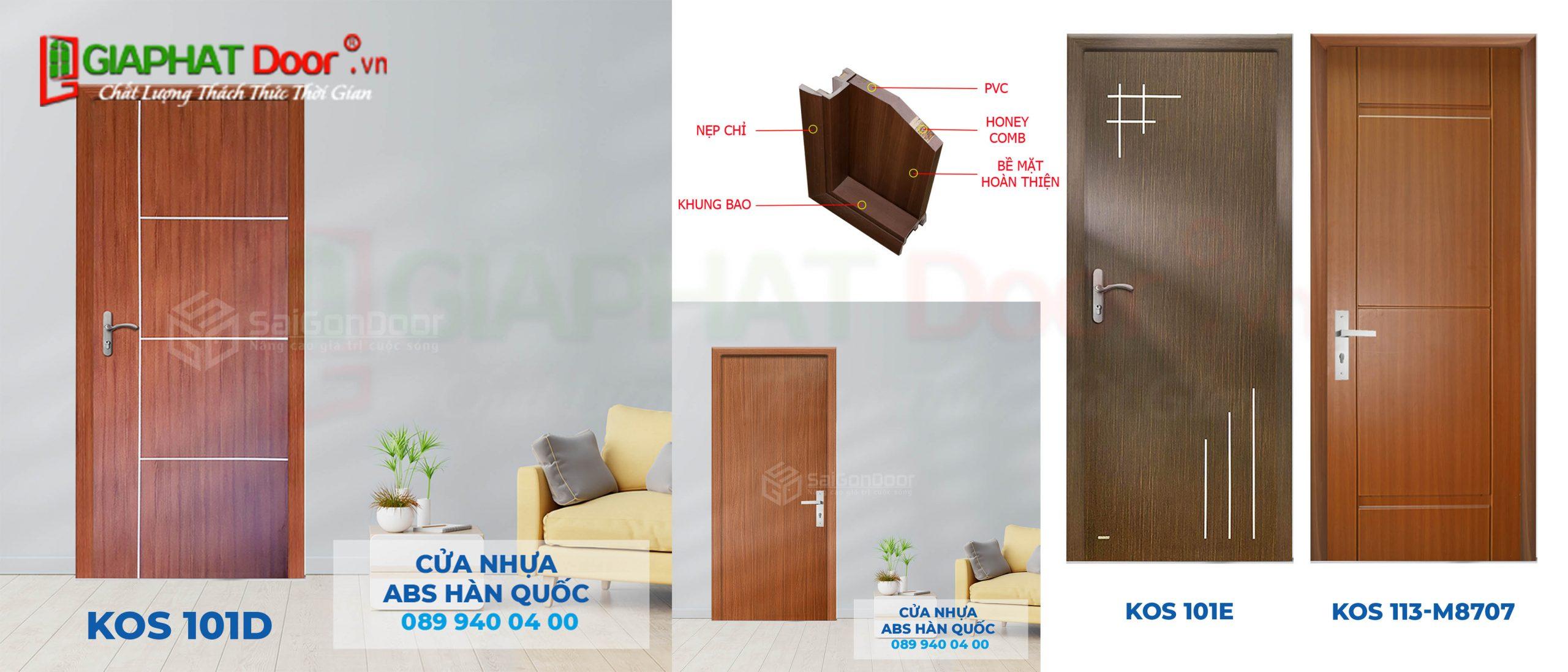 Cấu tạo mặt cắt góc cửa nhựa ABS Hàn Quốc
