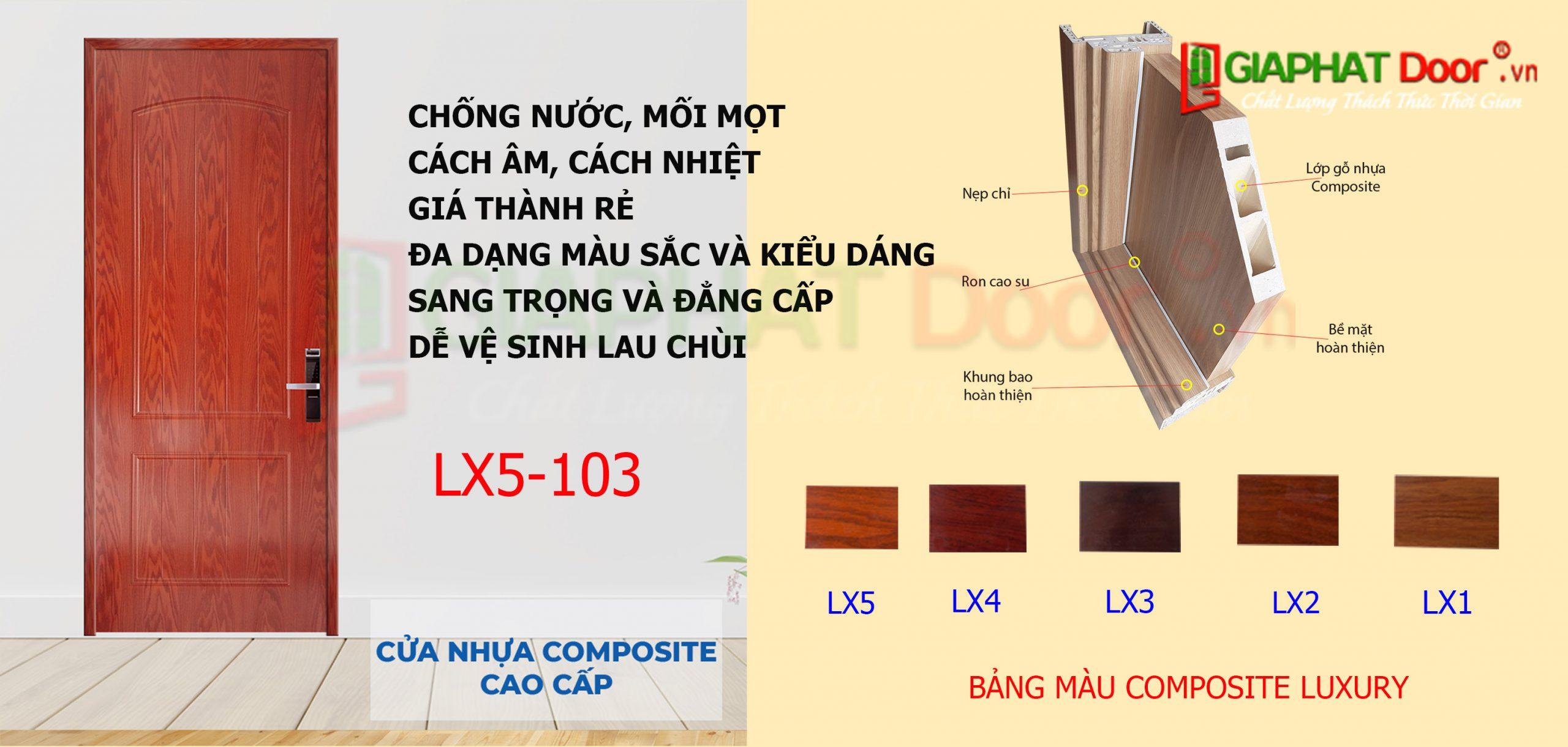 Mẫu cửa nhựa gỗ Composite Luxury dùng cho phòng khách