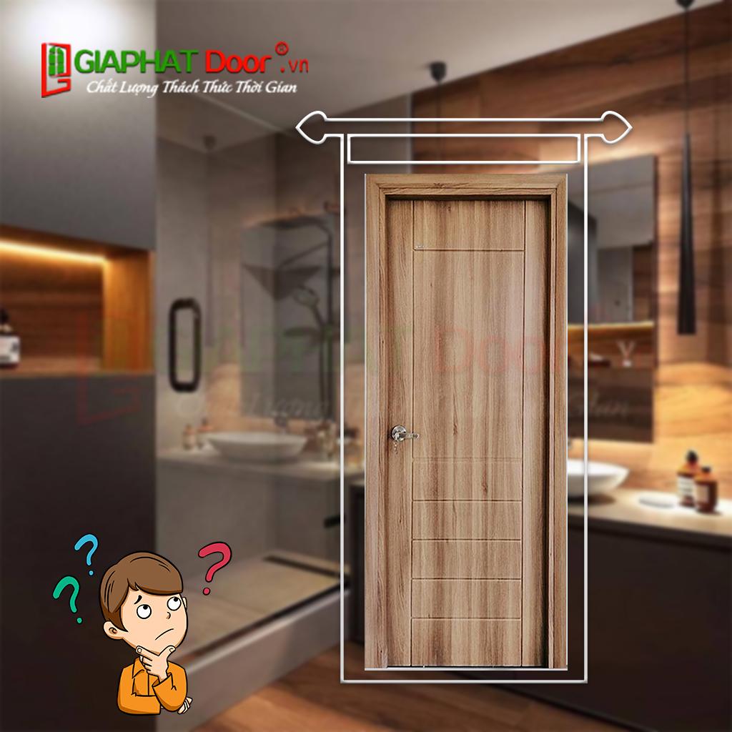 Lựa chọn cửa nhựa vân gỗ giá rẻ nhà vệ sinh
