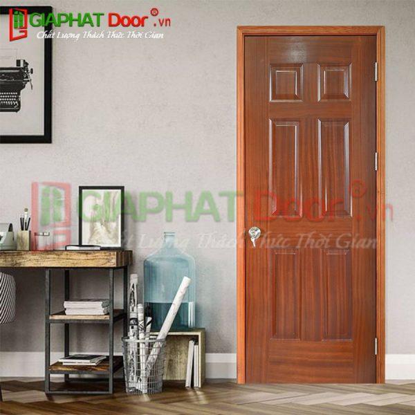 Cửa gỗ công nghiệp HDF Veneer GPD 64-Sapele