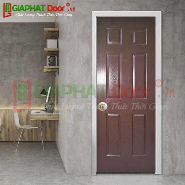 Cửa gỗ công nghiệp HDF Veneer GPD V6A-CAM XE