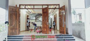 cửa gỗ tự nhiên 4 cánh cao cấp
