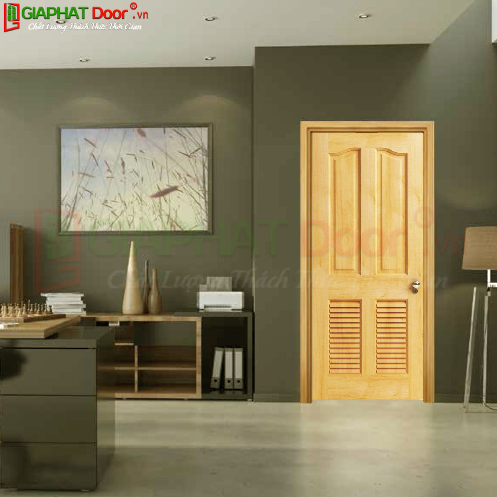 Cửa gỗ tự nhiên SGD GTN-04L2