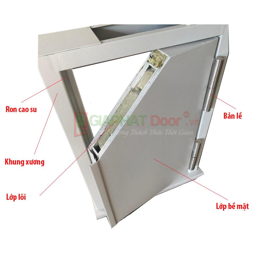Mặt cắt cấu tạo cấu tạo cửa thép chống cháy