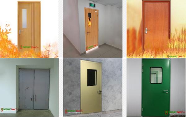 Một số mẫu cửa thép chống cháy và cửa gỗ chống cháy