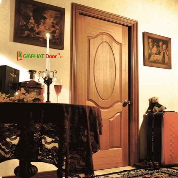 Các mẫu cửa gỗ phòng ngủ HDF Veneer đẹp 2020