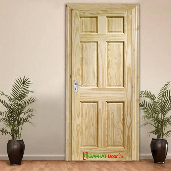 Các mẫu cửa gỗ phòng ngủ chất liệu gỗ tự nhiên đẹp 2020