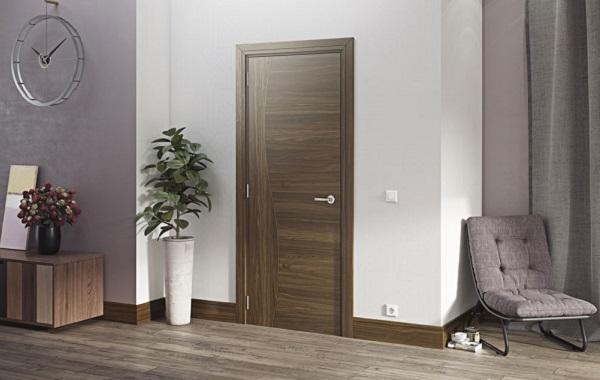 Mẫu cửa gỗ cao cấp chất liệu gỗ Óc chó