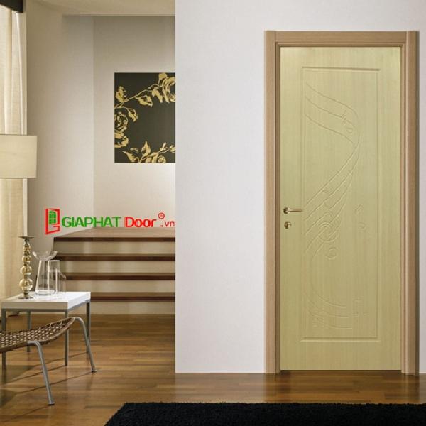 Mẫu cửa nhựa gả gỗ giá rẻ Composite màu vàng nhạt