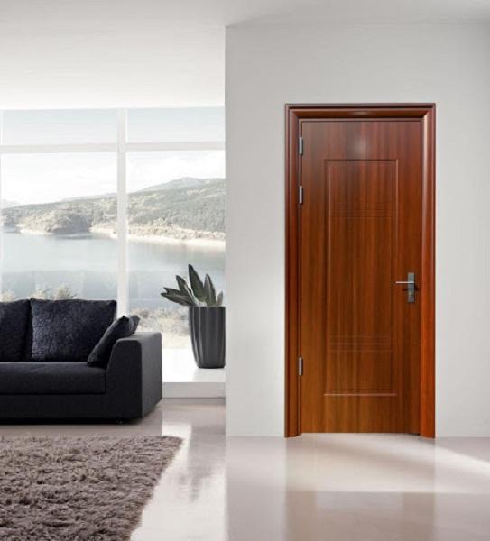 Cửa thép vân gỗ có vẻ đẹp giống cửa gỗ tự nhiên, tăng tính thẩm mỹ cho không gian