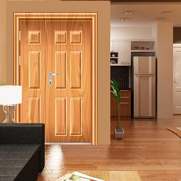 Dòng cửa thép giả gỗ có khả năng chống cháy, đảm bảo an toàn và tăng tính thẩm mỹ cho ngôi nhà