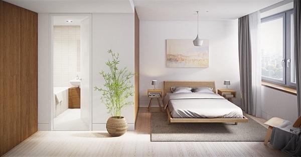 Cửa phòng ngủ thẳng với cửa nhà vệ sinh được cho là không hợp phong thủy, ảnh hưởng xấu đến vượng khí