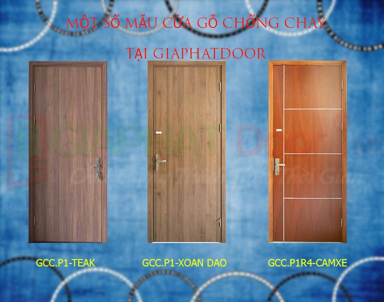 Một số mẫu cửa gỗ chống cháy tại GIAPHATDoor