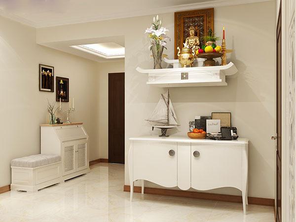 Bàn thờ nên được đặt trong không gian riêng biệt, sạch sẽ và trang nghiêm