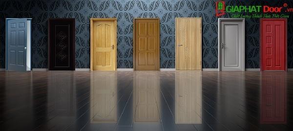 Cửa gỗ HDF và MDF đa dạng màu sắc, có tính thẩm mỹ cao